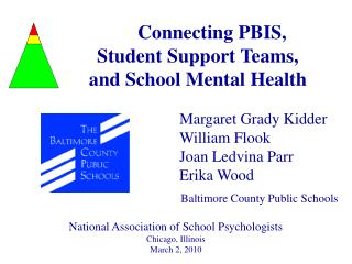 Connecting PBIS,  Student Support Teams,  and School Mental Health
