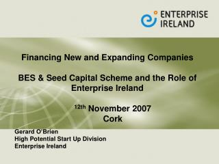Financing New and Expanding Companies