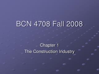 BCN 4708 Fall 2008