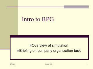 Intro to BPG