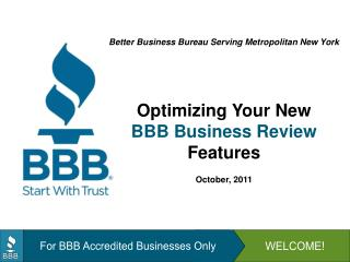 For BBB Accredited Businesses Only