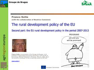 The rural development policy of the EU