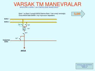 VARSAK TM MANEVRALAR