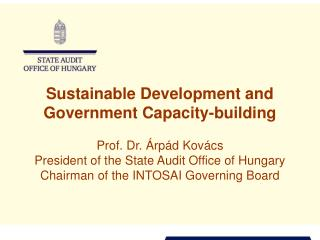 Sustainable Development and Government Capacity-building
