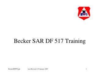 Becker SAR DF 517 Training