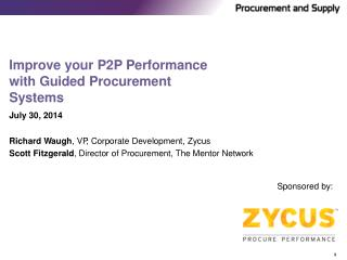 Improve your P2P Performance with Guided Procurement Systems