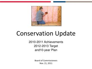 Conservation Update