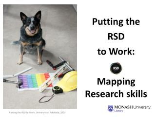 Putting  the  RSD  to Work:  Mapping Research skills