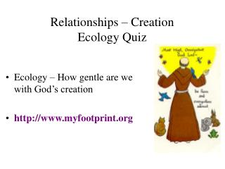 Relationships � Creation Ecology Quiz