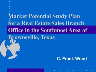 Market Potential Study Plan