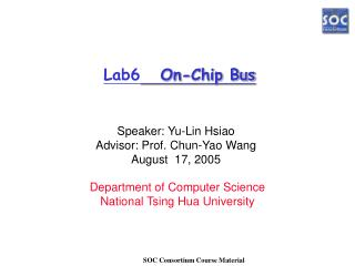 Lab6    On-Chip Bus