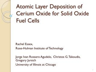 Atomic Layer Deposition of Cerium Oxide for Solid Oxide  F uel  C ells