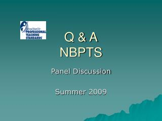Q & A NBPTS