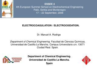 ELECTROCOAGULATION / ELECTROOXIDATION.