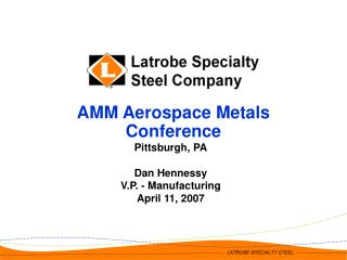 AMM Aerospace Metals Conference