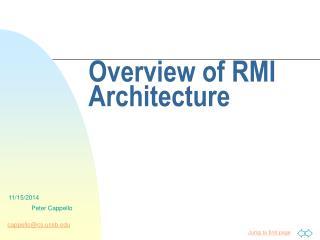 Overview of RMI Architecture