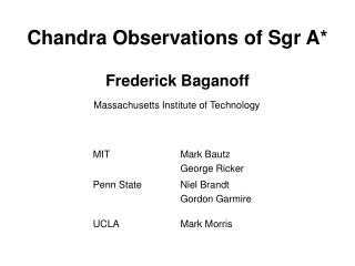 Chandra Observations of Sgr A