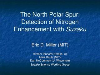 The North Polar Spur: Detection of Nitrogen Enhancement with  Suzaku
