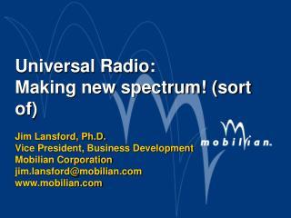 Radio Spectrum: A precious resource