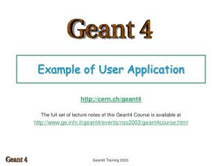 Example of User Application