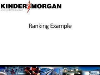 Ranking Example