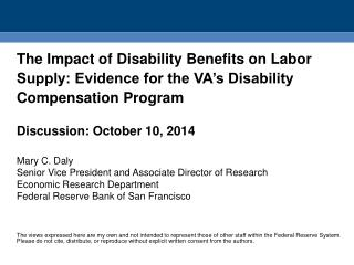 The Big Question Do Disability Benefits Affect  Labor  Supply?