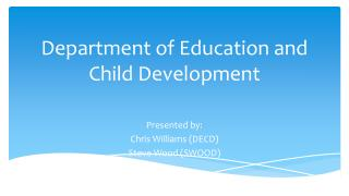 Department of Education and Child Development