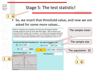 Stage 5: The test statistic!