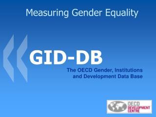 Measuring Gender Equality