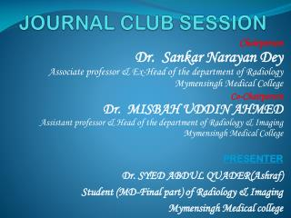 JOURNAL CLUB SESSION