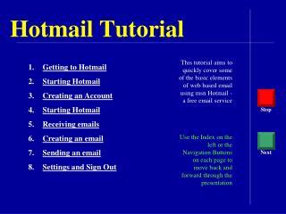 Hotmail Tutorial