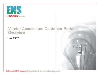 Vendor Access and Customer Portal Overview
