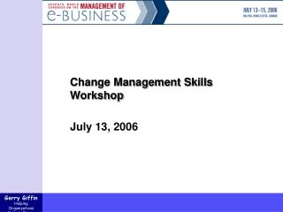 Change Management Skills Workshop