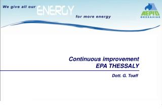 Continuous improvement EPA THESSALY