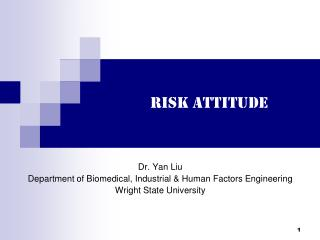 Risk Attitude