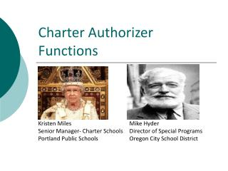 Charter Authorizer Functions