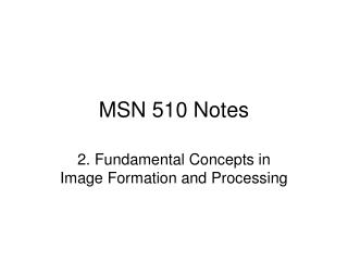 MSN 510 Notes
