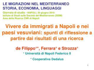 Vivere da immigrati a Napoli e nei paesi vesuviani: spunti di riflessione a partire dai risultati di una ricerca
