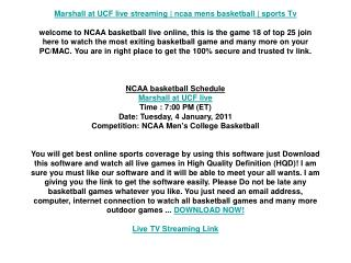 Marshall at UCF live streaming | ncaa mens basketball | spor