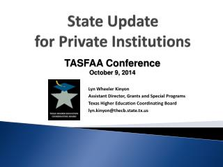 State Update for Private Institutions