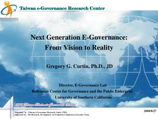 Next Generation E-Governance: From Vision to Reality