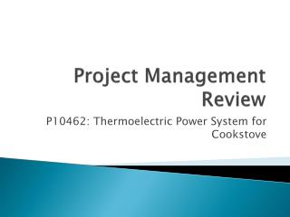 Project Management Review