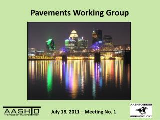 Pavements Working Group