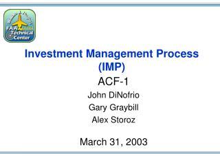 Investment Management Process (IMP)