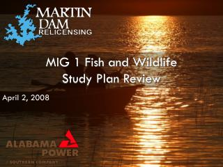MIG 1 Fish and Wildlife Study Plan Review