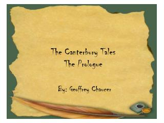 The Canterbury Tales The Prologue