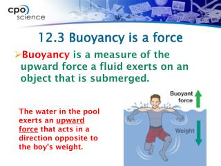 12.3 Buoyancy is a force