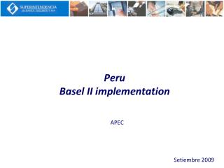 Peru Basel II implementation