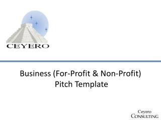 Business (For-Profit & Non-Profit)  Pitch Template