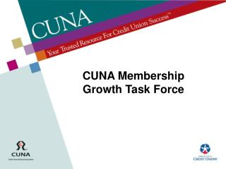 CUNA Membership Growth Task Force